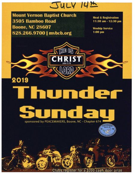 Thunder Sunday July 14th