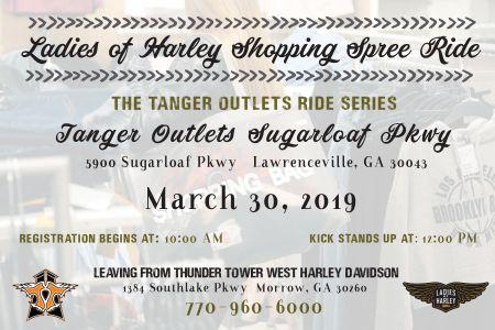 Ladies of Harley Shopping Spree Ride