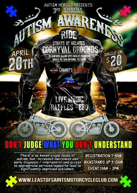 3rd Annual Autism Awareness Ride