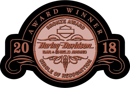 Yellowstone Harley-Davidson Earns Bronze Bar & Shield Award