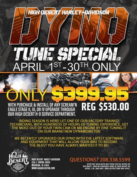 Dyno tune special Service promo