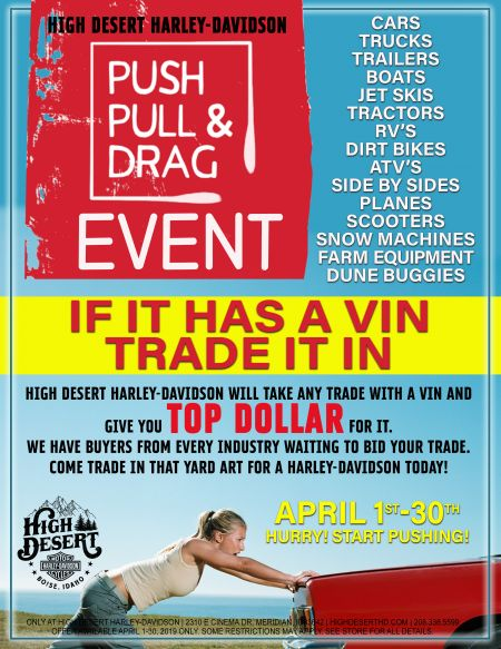 PUSH PULL & DRAG April Sales Promo