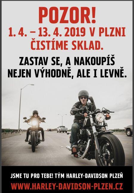 Pozor! 1.4.-13.4.2019 v Plzni čistíme sklad!
