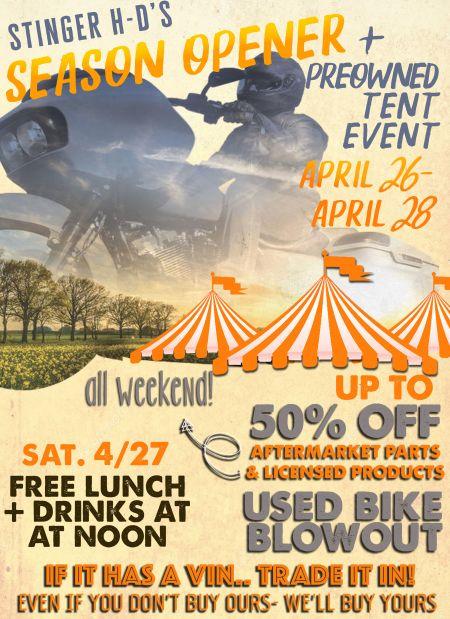 Season Opener & Tent Event