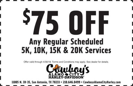 April Service Coupon - $75 off Scheduled Services