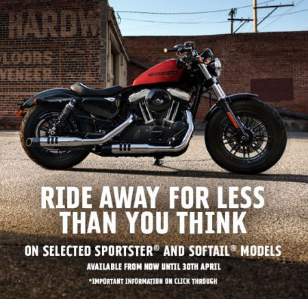 Ride Away For Less - 6.6% APR On Sportsters & Street Bob
