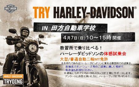 4月7日(日)トライディング開催!