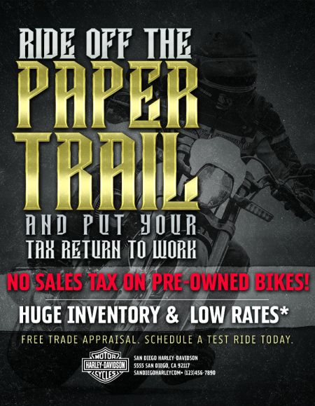 No Sales Tax On Pre-Owned Harleys!