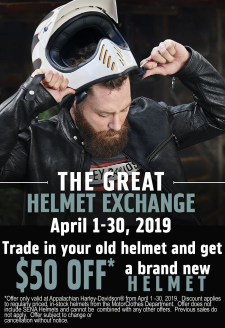 The Great Helmet Exchange - April Only!
