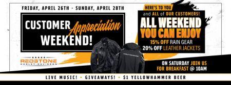 Customer Appreciation Weekend!