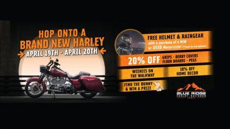 Hop Onto A Brand New Harley!