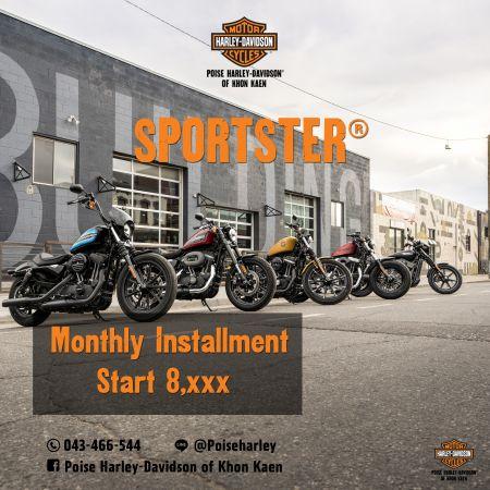 Poise Harley-Davidson of Khon Kaen SPORTSTER® ผ่อนเริ่มต้นที่ 8,xxx บาท