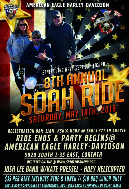 8th Annual Spirit Of A Hero Ride Benefitting Navy Seal Dan Licardo