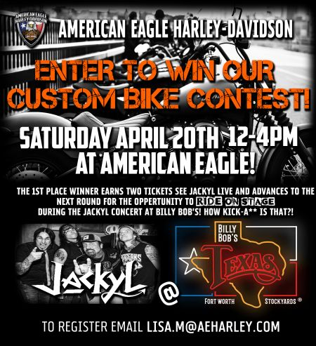Ride Your Kick-Ass H-D Onstage During The Jackyl Concert!!
