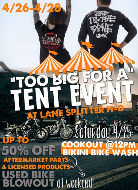 Too Big for a Tent Event & Bike Wash