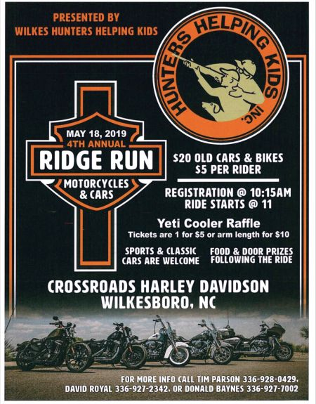 Hunters Helping Kids 4th Annual Ridge Run