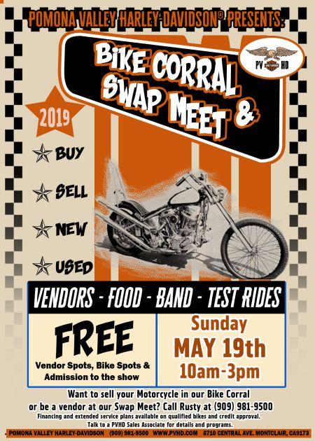 May 2019 Bike Corral & Swap Meet