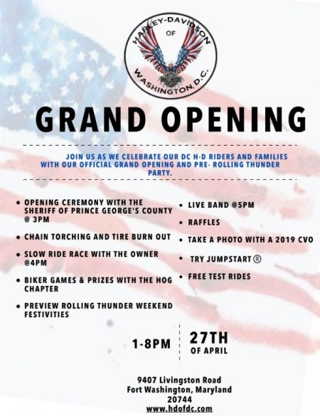 Official Grand Opening & Preview to Rolling Thunder Bike Night!