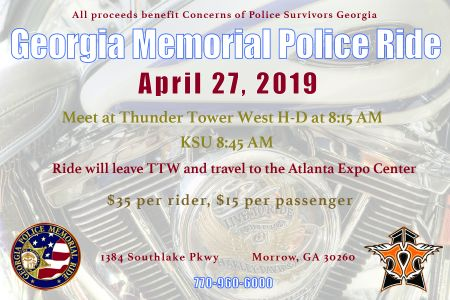 28th Georgia Memorial Police Ride | Thunder Tower West