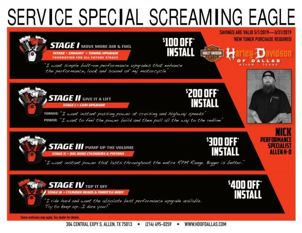 Screaming Eagle Service Special!