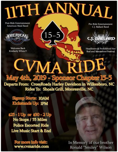 CVMA15-5 11th Annual Benefit Ride