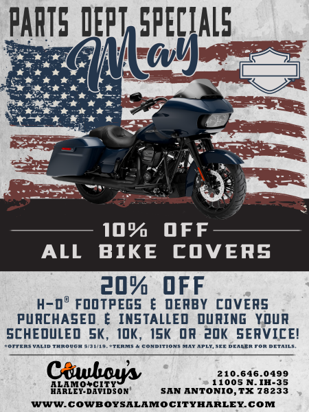 Parts Specials for May