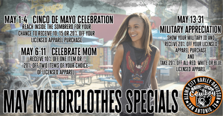 Motorclothes Specials for May