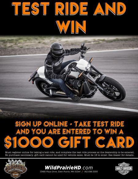 TEST RIDE AND WIN! | Wild Prairie Harley-Davidson®