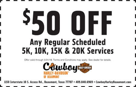 May Service Special - $50 off Scheduled Service