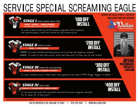 May Screaming Eagle Service Special