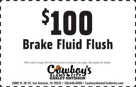 May Service Special - $100 Brake Fluid Flush