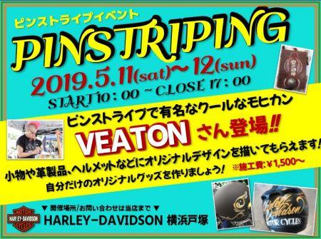 5月11日(土)・12日(日)は、ピンストイベント開催!!