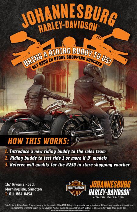 Johannesburg Harley Buddy Program