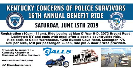 KY Concerns of Police Survivors 16th Annual Benefit Ride