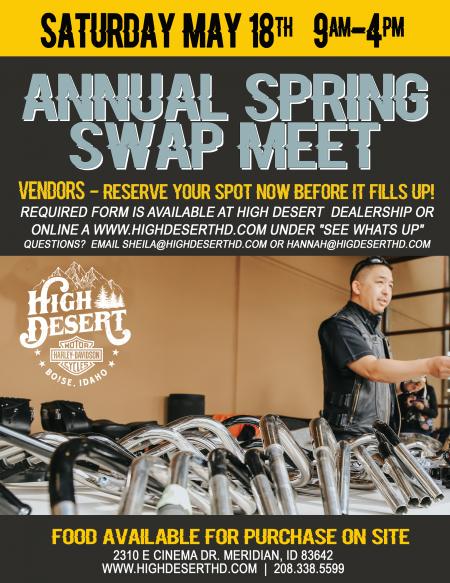 Annual Spring SWAP MEET