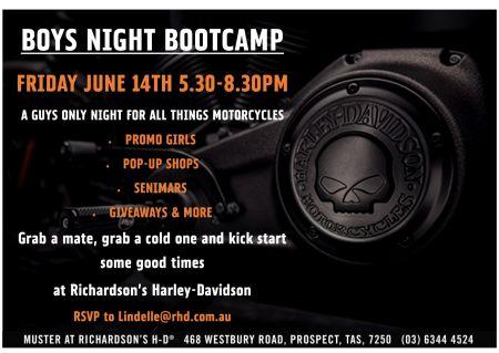 Boys Night & Boot Camp Launceston