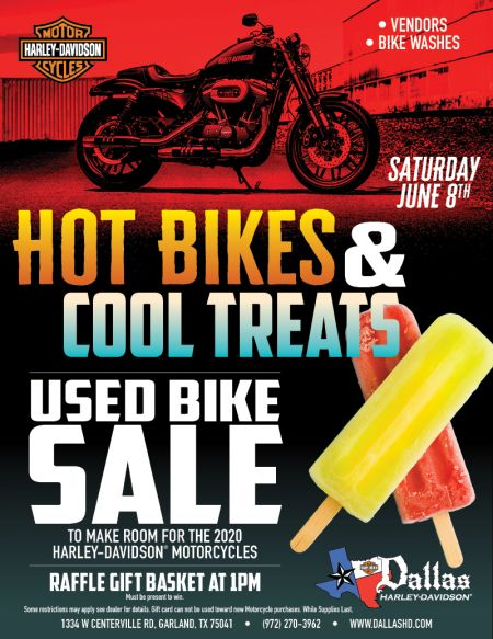 Hot Bikes & Cool Treats Used Bike Sale