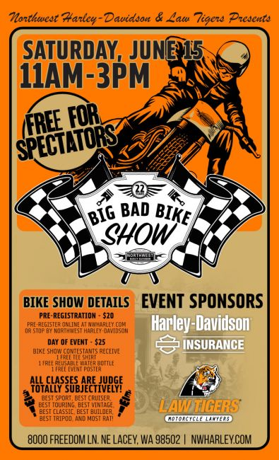 22nd Big Bad Bike Show Presented By Law Tigers
