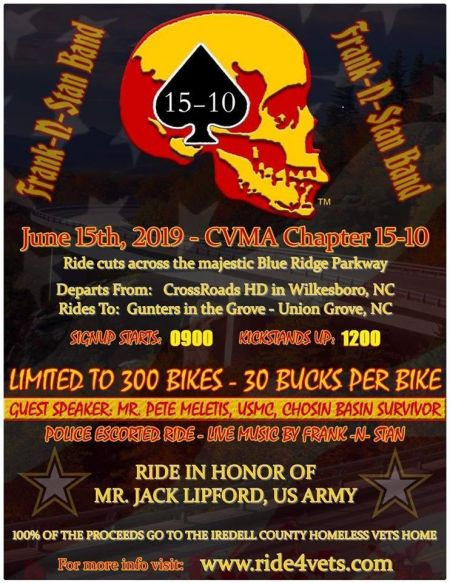 CVMA 15-10 Ride for homeless Veterans of Iredell County