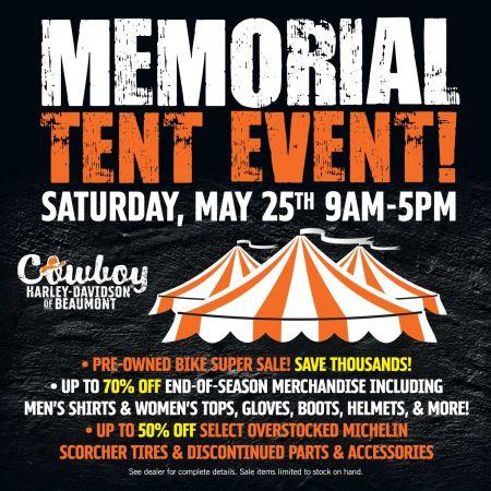 Memorial Tent Event!