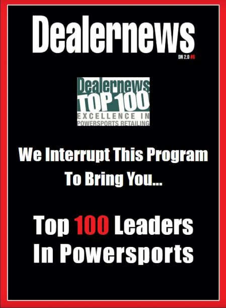 GAIL NAMED TOP 100 LEADER IN THE POWERSPORTS INDUSTRY