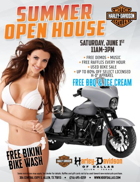 Summer Open House and Bikini Bike wash!