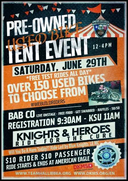 Pre-Owned Used Bike Tent Event!