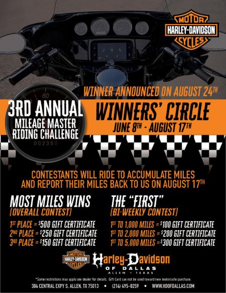 3RD Annual Mileage Master Riding Challenge