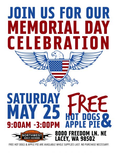 Free Hot Dogs & Apple Pie