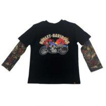 Harley-Davidson® Little Boys' Motorcycle Tee w/ Mesh Tattoo Sleeves
