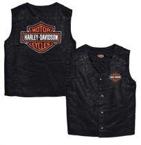 Harley-Davidson® Little Boys' Bar & Shield PU Pleather Biker Vest