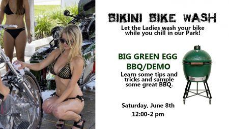 Bikini Bike Wash &  Big Green Egg BBQ / Demo
