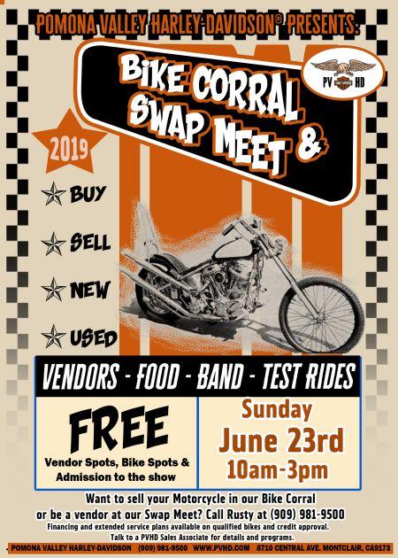 June 2019 Bike Corral & Swap Meet