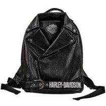Harley-Davidson® Girls' Polyurethane Biker Backpack | Bar & Shield® Patch